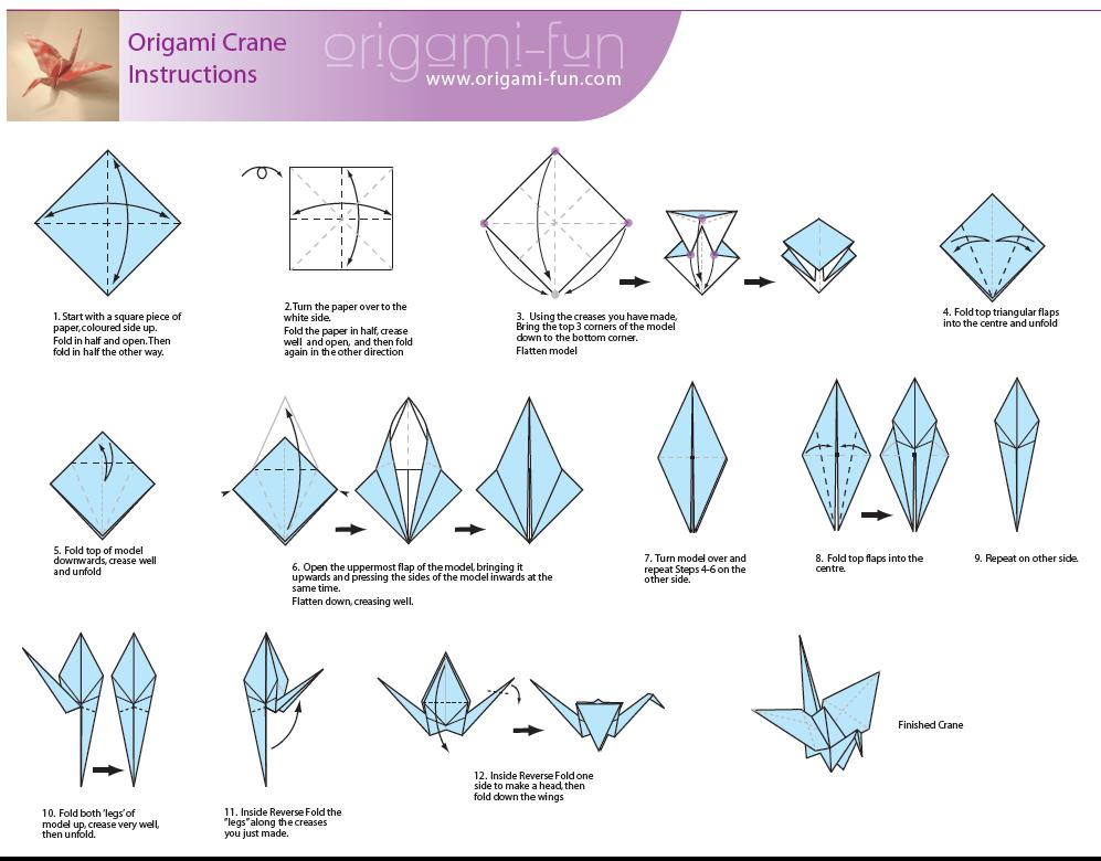 Make a Paper Crane Origami Crane Instructions and Diagrams