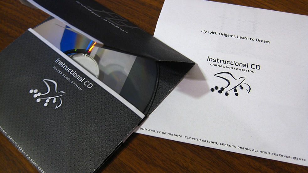 Instructional CD + Custom Origami CD Cover