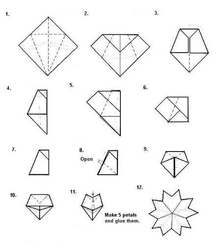 How to Make a Origami Cherry Blossom   504x450