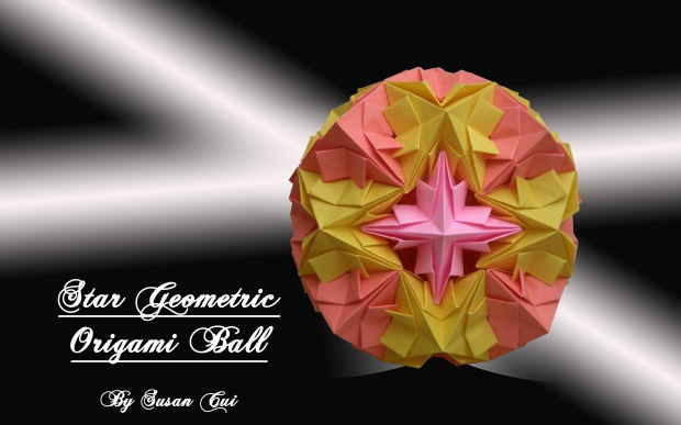 Star Geometric Origami Ball