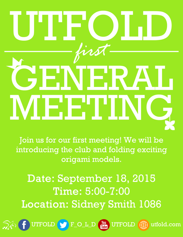2015 first general meeting poster